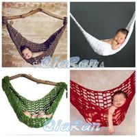 baby hammock - Comfortable Handmade Knitted Newborn Hammock Cocoon Baby Photography Prop Infant Toddler Crochet Costume