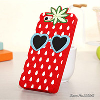 For Apple iPhone Silicone Case Summer Ice Fruit Soft Case for iPhone 5 5g 5s Mobile Phone Bag for iPhone 5 s Silicon Pineapple Banana Pink Ice Cream Back Cover