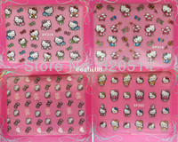 Wholesale SheetsX24Mixed Designs D Hello Kitty Nail Art Stickers Cartoon Cute Design Nail Decals Hello Kitty Patch MY