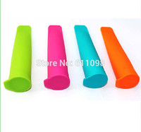 Ice Cream Makers Silicone ECO Friendly Wholesale Silicone Push Up Ice Cream Jelly Lolly Pop Maker Popsicle Mould Mold factory price 100pcs free shipping
