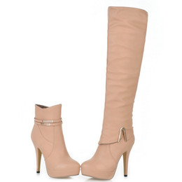 ENMAYER 2013 new two ways high heel boots, high heel ankle boots for women over the knee sexy winter oversized 34-43