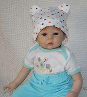 Unisex Birth-12 months Vinyl 22 inch Reborn baby silicone vinyl dolls handmade realistic lovely baby gift