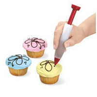 Wholesale Food Grade Silicone Cake Biscuit Cookie Pastry Icing Decoration Syringe Chocolate Plate Pen Tool