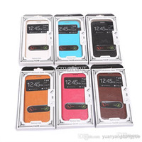 For Samsung Leather White Crystal Strip Embossing High Quality PU Leather Case Back Cover Cell Phone Double Windows Skin Cases For Samsung 7100 Mix Order DHL Free