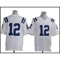 Wholesale American Football Jerseys Andrew Luck White Elite Football Shirts Custom Football Jersey Mix Order New Cheap Football Sportswear