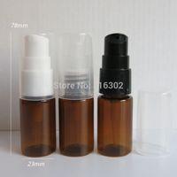 Wholesale ml Amber Lotion Pump Bottle cc brown Cream Bottle OZ Pump Bottle Plastic Cosmetic Container