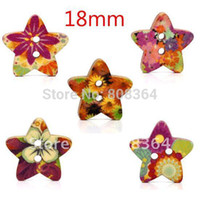 Buttons None Yes Free Shipping 100 Random Mixed Star Shape Wood Sewing Buttons Scrapbook 18x17mm Knopf Bouton(W01434 X 1)