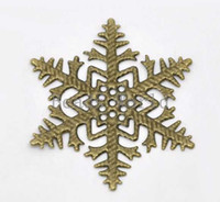 Wholesale Bronze Tone Filigree Snowflake Wraps Connector Embellishments Findings mm DIY Craft Jewelry W03476 X
