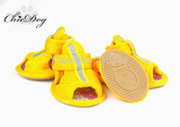 Wholesale Summer pet shoes mesh breathable dog sport shoes non slip shoes teddy dog shoes for summer small dogs boots footwear chihuahua