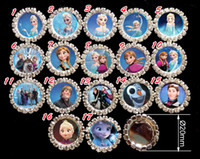 Quilt Accessories Buttons Yes 100pcs frozen Anna Elsa Clear Rhinestone Crystal Cluster Craft Embellishments DIY button FlatBack Hair Bow accessories Xmas gift