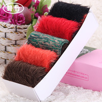 Women Over Knee 2014 autumn and winter Bizhu creative cashmere thick winter socks, tube socks female Japanese cute girl feather yarn socks