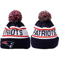 Wholesale Patriots Beanies Football Caps for Men Women Cheap Sports Beanie Hats Casual Knitted Caps Fashion Team Hats Top Quality Skullcaps Mix Order
