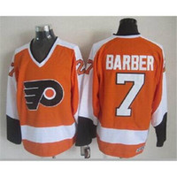 Ice Hockey barber uniforms - flyers Barber Throwback Hockey Jerseys New Arrival Hockey Uniform Mens Hockey Wears Athletic Apparel New Collection Outdoor Wears
