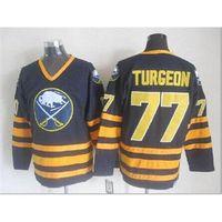 Wholesale Sabres Turgeon Throwback Hockey Jerseys Buffalo Hockey Wears Brand Ice Hockey Jerseys New American Hockey Uniform for Sale In stock