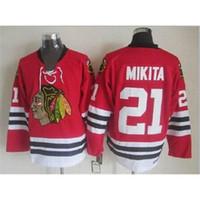 Wholesale Blackhawks Mikita Throwback Hockey Jerseys Chicago Hockey Uniforms Discount Hockey Jersey Outdoor Uniform New Arrival