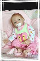 "Unisex Birth-12 months Vinyl 22"" Reborn Baby Girl doll Lifelike soft silicone vinyl newborn baby doll realistic chiildren doll for boys and girls"