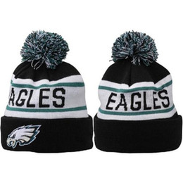 Wholesale Eagles Football Beanies Latest Knitted Hats Skullcaps for Men Women Casual Autumn Beanie Hats Warm Sports Team Caps Outdoor Hats
