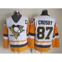 Wholesale Penguins Sidney Crosby Throwback Hockey Jerseys Pittsburgh Hockey Wears New Style Ice Jerseys Cheap Sportswear Outdoor Uniform