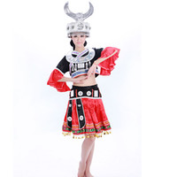 Wholesale Fell in love with dance costume costumes Hmong ethnic Hmong ethnic woman cabaret costume dance costume