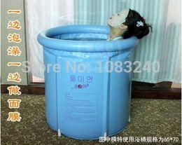 Wholesale inflatable plastic bathtub adult bath tub adults spa steam sauna for perfume mugwort herbal NO outside mat bag cover