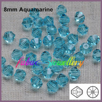 Fashion chinese crystal beads - AAA Chinese Top Quality mm Aquamarine Crystal Bicone Beads