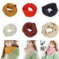 Wholesale cm Christmas Gift Unisex Women Lady s Winter Infinity Knit Circle Neck Collar Long Loop Scarf Shawl Wraps Cowl