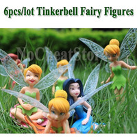 Wholesale set PVC Tinkerbell Fairy Toy Cartoon Tinker Bell Figures Princess Doll For Kids