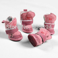 Dogs beautiful fashion footwear - New Fashion Beautiful snow boots pet dog shoes footwear