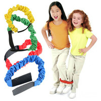 Wholesale 4PCS Cloth heel and toe walking race elastic band Outdoor toys Outdoor sports Kids center toys x48cm Freeshipping