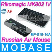 Wholesale Russian KP A Air Mouse Rikomagic RKM MK802IV Android TV Box Mini PC Android RK3188 Quad Core GHz G G WiFi HDMI