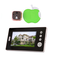 Wholesale by dhl or ems pieces Wireless color quot LCD Digital Security Door Viewer Peephole Spyhole Camera video door phone