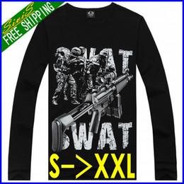 Wholesale ZZ18 D printing sweatshirt SWAT shotgun AK rifle realistic printing men pullovers sweater hoodies sport suit brand hip hop