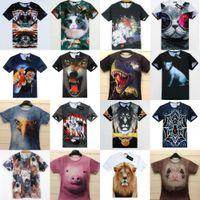 Wholesale M XXL New Summer women s men s clothing creative Animal Series color D t shirt tshirt novelty men t shirt top tee