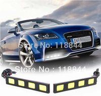 2014 Camry,Corolla 46932 2Pcs 7W 4 COB LED Driving Daytime Running Light Car Truck DC 12V DRL Fog Lamp Kit For Nissan VW toyota Free Shipping