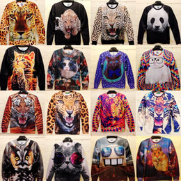 Wholesale NEW SPRING d animal series printing Hoodies Harajuku sweatshirt mr miss sweater three dimensional graphic patterns long sleeve