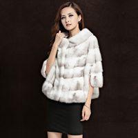 Wholesale Women s Genuine leather Fur coat Cross mink coat women s whole mink coat jacket winter warm Outerwear Fur Coats