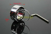 stainless steel ball stretcher Chastity Male adult sex toys