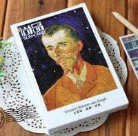 Wholesale Vintage Vincent Willem van Gogh oil paintings boxed postcards greeting cards Christmas Postcard Gift set