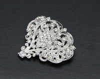 Women's handmade costume jewelry - 10pcs Stunning Handmade Crystal Heart Brooch Bridal Jewelry Pin Wedding Costume Decoration Bouquet Ornament wx259