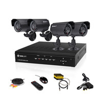 Wholesale 4CH H DVR Recorder CCTV System Weatherproof IR Surveillance Camera