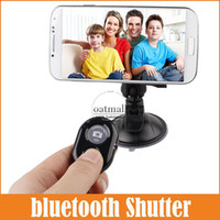 Wholesale New wireless bluetooth Remote Shutter For iPhone Camera Shutter Release Universal Self timer selfie Control For IOS Android