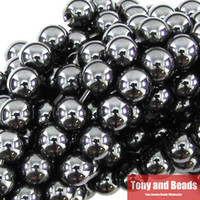 Fashion wholesale hematite jewelry - Natural Stone Black Hematite Shamballa Beads MM quot Per Strand Pick Size For Jewelry Making No HB1