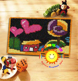 Wholesale DIY Mat Needlework Kit Unfinished Crochet Hook Yarn Cushion Embroidery Carpet Home On Night HSB