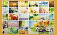 Wholesale Daisyland Tagore The Gardener Poem boxed postcards high quality set gift greeting card Birthday card
