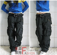 baggy cargo pants men - Mens Hiphop Overalls Urban Tactical Harem Pants Loose Chinos Casual Army Cargo Pants Loves Baggy Pantalon