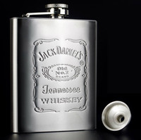 Wholesale Hip Flask oz Portable Stainless Steel Drinkware Whisky Bottle Gift Box Pocket Flask Russian Flagon