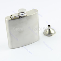 Wholesale V115 Stainless Steel oz Liquor Alcohol Party Drink Hip Flask Funnel retail hot sale