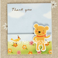 Wholesale x7cm NEW D mini Thank you card Handmade D cards gift paper card for kids MIX designs SS