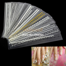 Wholesale Fashion Beauty Acrylic Mix Lace Stylish Decal For Nail Art French Tips Nail Sticker Decoration B3