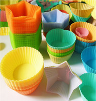 Wholesale multi form FDA approve Soft Silicone Cake Cup Mold Cupcake liner Mold Baking Cup muffin case